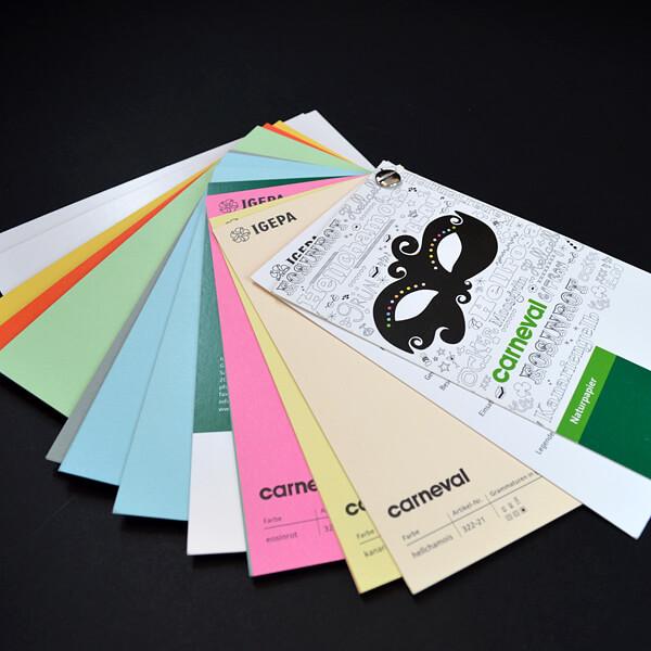 Binden: Papierfächer mit Buchschraube