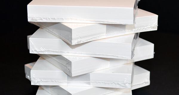 Bündeln: Einschweißen Blankoblöcke, weiß