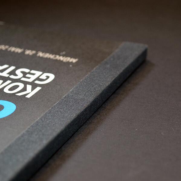 Fälzeln: Fälzelband Ton-in-Ton mit grauem Umschlag