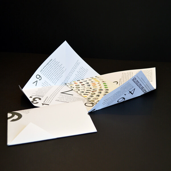 Falzen: Flyer mit Sonderfalz dreieckig