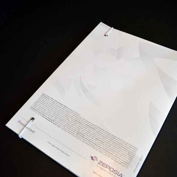 Mappe mit Gummiband als Verschluss