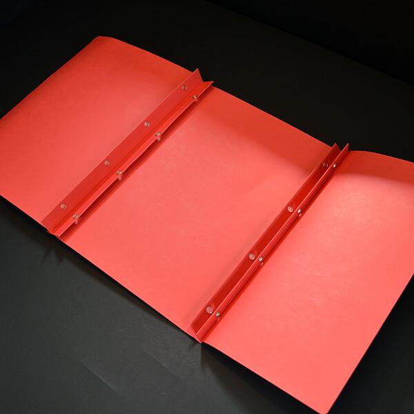 Mappe, rot, mit Ösung