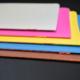 Heftstichnaht: 5 farbige Broschüren