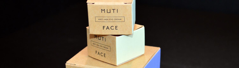 Nagl Papierverarbeitung: Verpackungen MUTI FACE Produkte in drei Größen