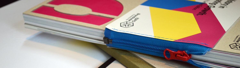 Broschüre / Katalog: Umschlag als Reissverschluss >> Eyecatcher