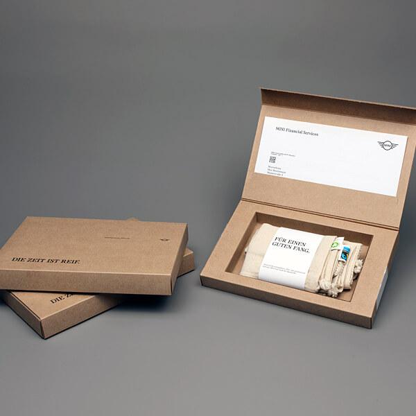 Verpackung: Mailing Werbegeschenk in Versandverpackung
